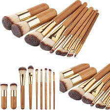 9tlg Pinselset Make up Pinsel Brush Bambus Bürste Kosmetik Schminkpinsel