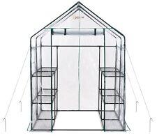 Ogrow Portable Spaziergang in Glashaus - 3 Tier 12 Regal groß PVC Garten Gewächs...