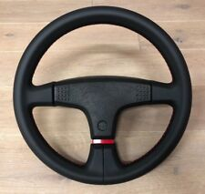 VW GOLF MK1 CABRIO SPORTLINE MK2 3 SPOKE NAPPA LEATHER RED STITCH STEERING WHEEL