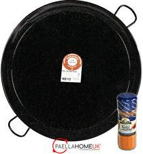 50cm ENAMELLED PAELLA PAN PROFESSIONAL / CATERING + SAFFRON PAELLA MIX GIFT