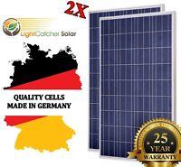 2*100 Watt Solar Panel,  200W 12V or 24 volt Off Grid RV Boat Camper RV, Battery