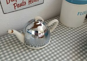 VINTAGE 1930s 40s CELTIC QUALITY PLATE ART DECO INSULATED TEAPOT & CORK WARMER.