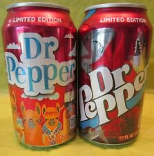 DR PEPPER #PICK YOUR PEPPER TWO LIMITED EDITION SHARK LLAMA EMPTY 12 OUNCE CAN
