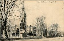 1910, STREET VIEW, COMMON, ORANGE, NJ POSTCARD HH2