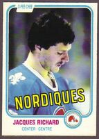 1981-82 OPC O-Pee-Chee Hockey Jacques Richard #268 Quebec Nordiques NM/MT