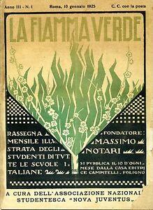 LA FIAMMA VERDE#Rassegna Mensile Studentesca - Anno III - N.1#10 Gennaio 1925
