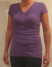 Tommy Hilfiger Denim V-Neck Shirt [s]Ladies T-Shirt Purple New & Sealed