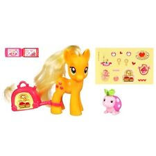 My Little Pony FIM Applejack Travel Figure +Suitcase, Ladybug, Ticket & Stickers