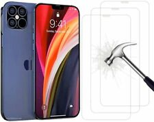 For Apple iPhone 12 Pro Max Temper Glass Clear Case Cover Screen Protector Film