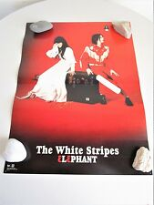 The White Stripes 2-sided promo poster Elephant Perforated Cards Original 2003