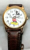 Vintage Disney Lorus Quartz Mickey Time Piece Wrist Watch Collectible