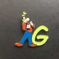 DLR Disneyland Alphabet Pin - G - Goofy Disney Pin 7803