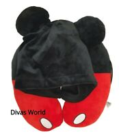 Disney Mickey Mouse Hooded Travel Pillow Neck Rest Support Holiday Primark