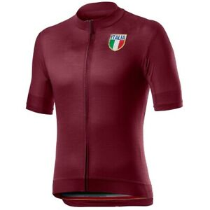 Mens New Cycling short Sleeve Jersey Italia 2021 (Blue)+(Black)+(Red)