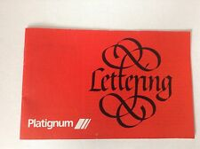 Platignum Lettering Calligraphy Booklet 20 pgs Basic Alphabets Design Intro+