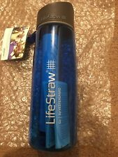 LifeStraw Go Water Filter Bottle with 2-Stage Integrated Filter Straw for