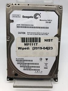 Internal Hard Drive 2,5Pouces Momentus 250GB Seagate Model ST9250315AS D' Used
