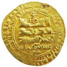 998 - 1030 AD GOLD GHAZNAVID DYNASTY SULTAN MAHMUD AV HAMMERED DINAR COIN