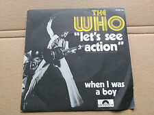 SINGLE THE WHO - LET'S SEE ACTION - POLYDOR FRANCE 1971 VG/VG+