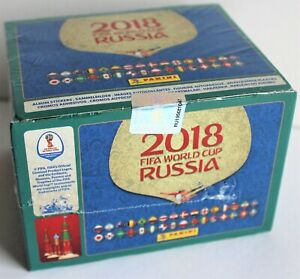 2018 Panini World Cup Sealed Sticker Box 104 packs - find MBAPPE Rookie