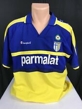 Vintage Champion Jersey Parma AC Soccer Shirt Italy 3D Logo Rare Script All Over