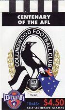 1996 AUSTRALIAN STAMP BOOKLET AFL CENTENARY COLLINGWOOD 10 x 45c STAMPS MUH