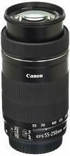 Canon STM EF-S 55-250mm F4-5.6 IS STM Lens for Canon SLR Cameras - Refurbished