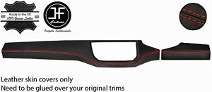 RED STITCH DASH DASHBOARD TRIMS KIT LEATHER COVERS FOR SEAT IBIZA MK5 V 17-20