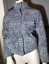 Billabong Women's Small 100% Cotton Jacket Paisley Cordoroy Surf Quilted Roxy
