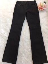 Women's White House Black Market Blanc Black Bling Boot Leg Jeans Size 2R