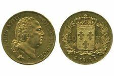 Pièces de monnaie françaises de 40 francs sur Louis XVIII