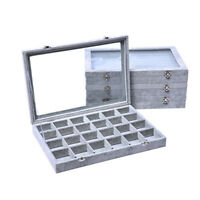 24 GRIDS RING BRACELET DISPLAY ORGANIZER CASE HOLDER JEWELRY STORAGE BOX SMART