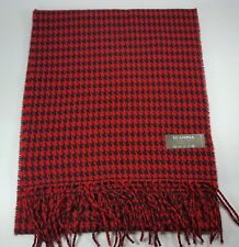 New Women Scarf Lady Wrap Winter Shawl Houndstooth Tassel Red Black Scarf MIT