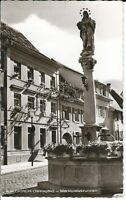 """Ansichtskarte Waldkirch im Breisgau - """"Marktplatzbrunnen"""" - schwarz/weiß"""