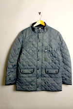Nickelson Quilted King Size Coat/Slate Grey - 4XL CLEARANCE