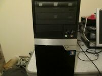 Intel Core 2 Quad Core 2.33Ghz PC, 500Gb HDD, 4Gb RAM, DVD/RW, Windows 10 Home