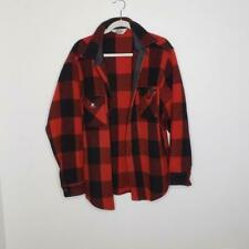 VTG Woolrich Buffalo Plaid Wool Buttons Down Shirt Jacket Men's Size XL