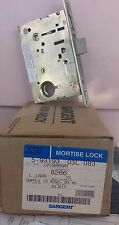 Sargent 8266 Mortise Lock R Handed with Hammered Brass Finish Trim Levers