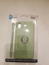 NIB ONN iPhone Xs Max Ring Stand Phone Case With Strap Rotates mint green