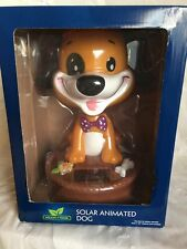 """Solar Dog 10"""" Tall Puppy Animated Bobble Head Battery Operated Kids Toy Gift New"""