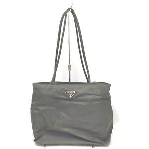 Prada Hand Bag  Olive Nylon 633162