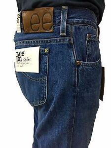 LEE 101 jeans uomo mod RIDER colore stone washed L96681GH con zip 100% cottone