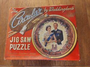 Circular jigsaw puzzle coronation souvenir