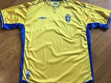 Vintage 2003/05 Umbro Sweden Jersey Shirt soccer Football XL 🇸🇪