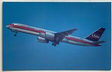 Vintage Postcard Usair Airlines Boeing 757-225 aircraft airplane (Mary Jayne's)