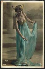 More details for ☆ mata hari ☆ vintage 1900s french courtesan/dancer postcard
