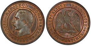 Napoléon III - Essai 10 centimes 1852 E  - PCGS SP65BN