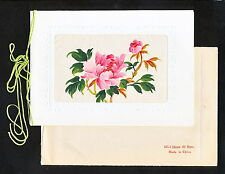 SBAA 062  China 1961 - 1968 MINT FLOWERS HAND PAINTED SILK EXPORT TO USSR