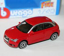 Burago - AUDI A1 (2010) Red - 'Street Fire' Model Scale 1:43