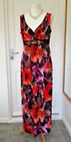 RONNI NICOLE BLACK RED CRUISE SUMMER EVENING DRESS SIZE 14 WORN ONCE